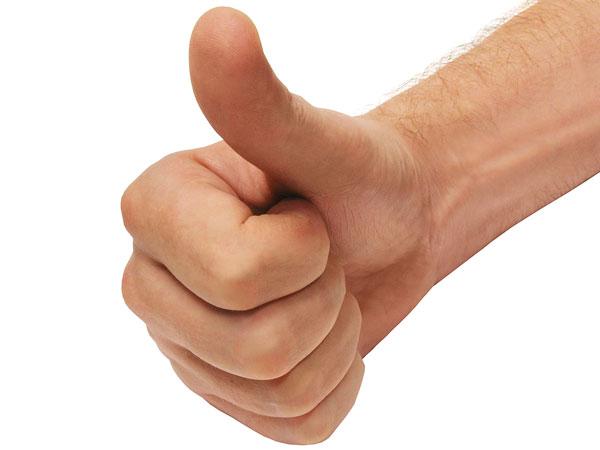 thumbs up arm web