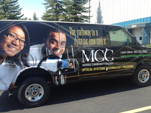 Sydor van wrap ad MCC, print advertising