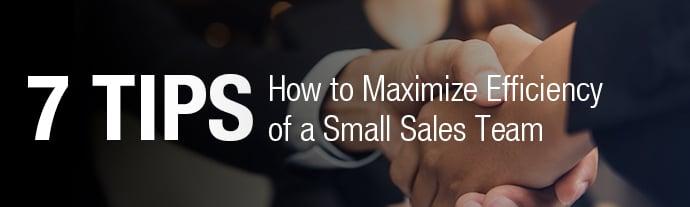 Maximize-small-sales-team