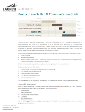product launch guide page 1